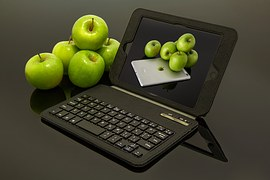 laptop and apple