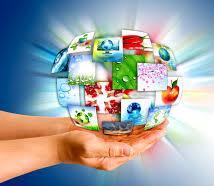 holding globe